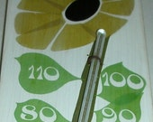 Vintage Spring Flower Painted Taylor Thermometer  Flower Power on Wood