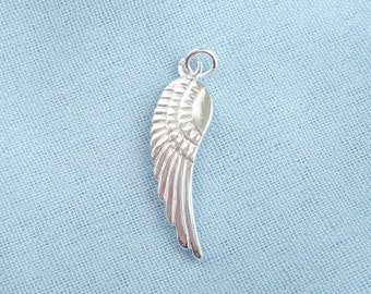 Sterling silver Wing  pendant (25x7mm)