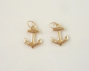 2 pcs 14K gold filled,Anchor charm (11x9mm)