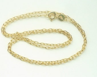 16 inches vermeil oval link necklace chain, finished chain.