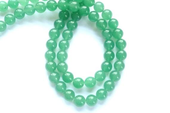 10mm Green  Aventurine round beads, FULL STRAND