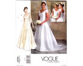 Vogue Wedding Dress Pattern 2000s / Vogue V2788 / Sizes 6-8-10