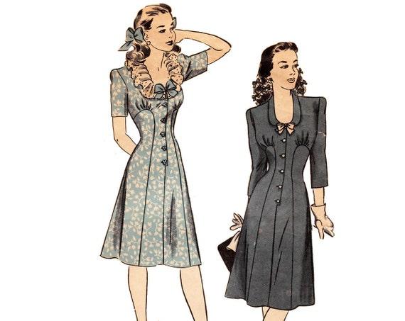 30s Dress Pattern / Hollywood Pattern 1352 / Size 16