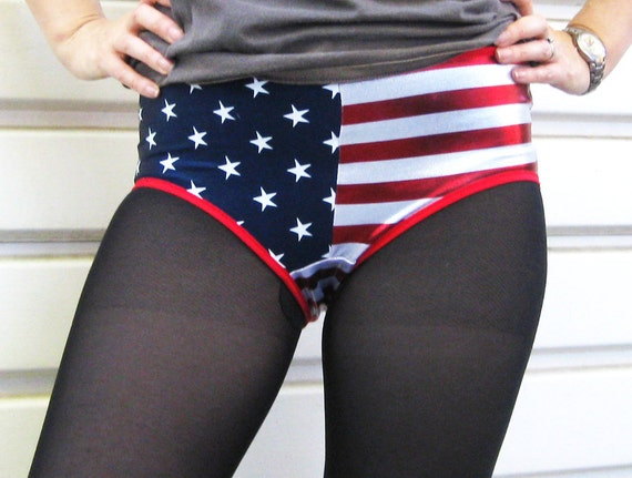 Roller Derby Shorts, Half Stars and Stripes