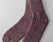 SALE  tgknits Hand Dyed Women's Socks, Hand Cranked
