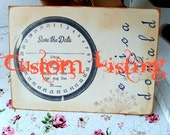 Custom order for Nandita.- Only