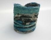 WIN THIS CUFF  Leaping Dolphins Felt Cuff Ocean Blues