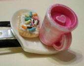 Pop Tart and Pink mug Hair Clip