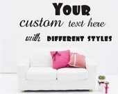 Custom Stickers Decal Wall Words Vinyl Wall Quote Wall Decal, Order ,Personalised Monogram,Sign Name