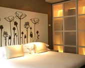 POPPIES FLOWERS Deco Mural Art Wall Sticker Decal Floral Pattern wall art