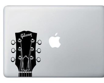 Music Gibson Headstock Guitar  Vinyl Decal Many Colors -Buy 2 get 1 Free