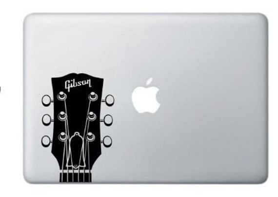 Gibson Headstock Guitar  Vinyl Decal Many Colors