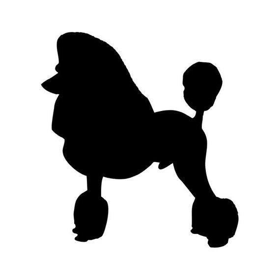 Poodle Head Silhouette Sale - poodle dog sticker