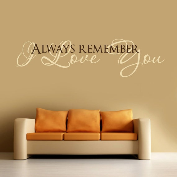 I LOVE YOU ... Vinyl Wall Decal Words Lettering Quote -Bedroom, Kids Room ,Wall Art Decor - 072