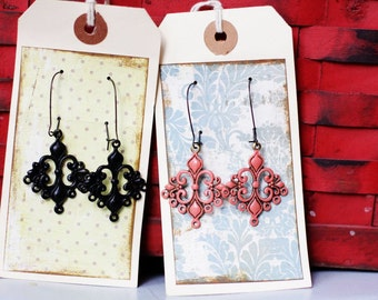 ROWEN - Chandelier Dangle Earrings - CHOOSE Your Own Color- Family Pictures, Bridesmaid Gift or Stocking Stuffers