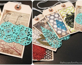 YOU CHOOSE any 10 Of Our Anthropologie Inspired Filigree Earrings or headbands - Choose Colors AND Style