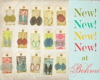 Let ME choose 5 pairs of our ANTHROPOLOGIE style earrings in stock - DEAL, bridesmaid gift, stocking stuffer