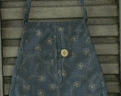 Primitive Folk Art Colonial Ladies Pocket Ditty Bag Pattern TDIPT