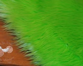 "Lime Green Fur Rug - 1.5 Inch Pile - Great Photo Prop - Newborn Nest - Measures 20""x20"""