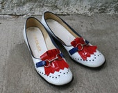 60s Red White and Blue Shoes