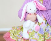 Bitbit The Rabbit Plush Toy in White and Candy Pink - READY TO SHIP
