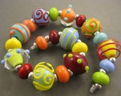Twinstar Lampwork Beads - Fantastic Rainbow Mix