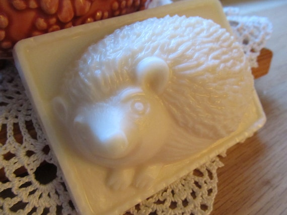 Fresh Baked Bread scented soap in a Hedgehog design