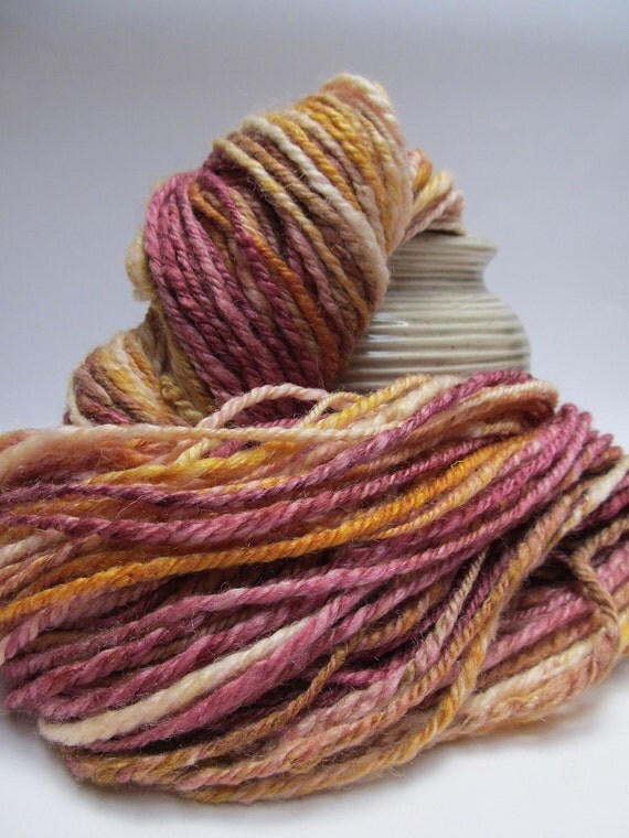 Handspun yarn - BFL and Silk blend