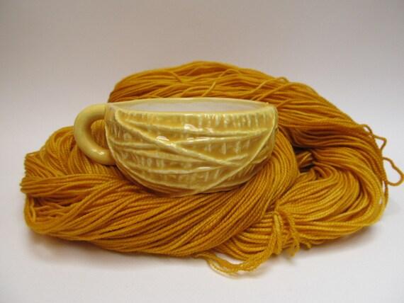 Sun Yellow messy yarn ball mug
