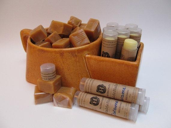 Caramel flavored lip balm (tube)