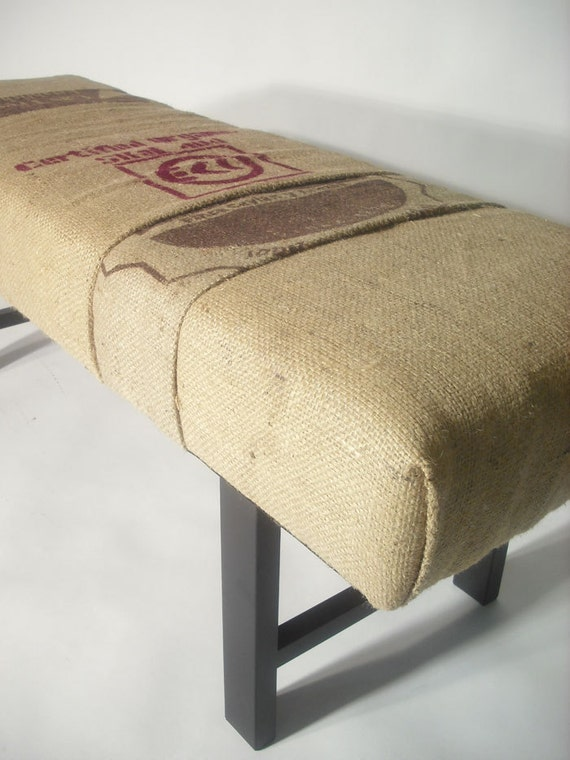 Re-purposed MultiBag Coffee Sack Bench