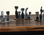Little Iron People. A Custom Family Sculpture Hand Forged by a Blacksmith