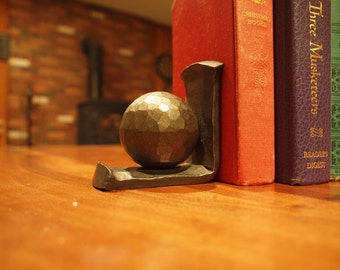 Pair of Forged Steel Ball Bookends