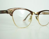 BOGO Sale - Vintage Art Craft eyeglasses in brown bronze