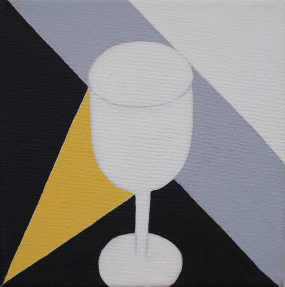 Modern still life with wine glass