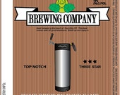 Home Brew Customized Beer Label - The Keg Stands Alone