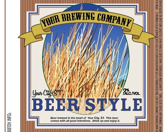Home Brew Customized Beer Label - Prairie Home