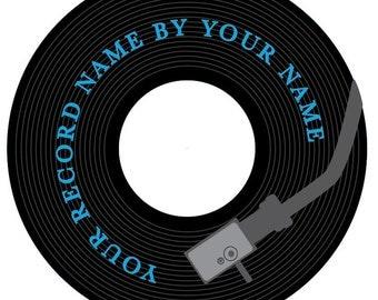 black wax cd label