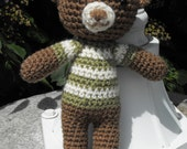 George the Teddy Bear with Sweater Crocheted Toy
