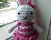 Made to Order-Lacy the Bunny Crocheted Toy