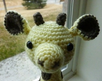 Made to Order-Geoffrey the Giraffe Crocheted Toy