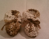 Baby Booties in Toasted Marshmallow