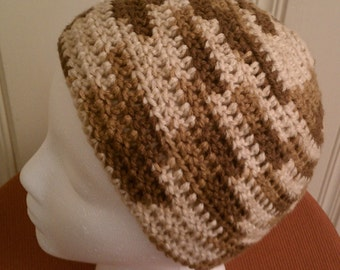 S'mores of a hat - crochet cap - or Chemo Cap