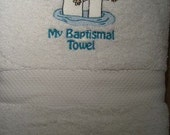 LDS Baptism towel for Boys