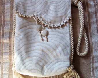 Fringed Evening Bag - Small Day Purse, Handmade 1980s