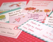 Printable Class Valentines - The Girly Version