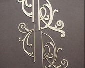 Dusty Attic Chipboard - Decorative Scroll 2 DA0206