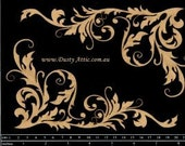 Dusty Attic Chipboard - Corner Flourish 1 DA0628