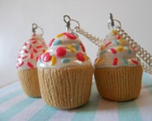 Reserved for SassyBelleWares - 3 Delicious Cupcake Necklaces