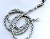 Hand Braided Imitation Silver Leather Cord